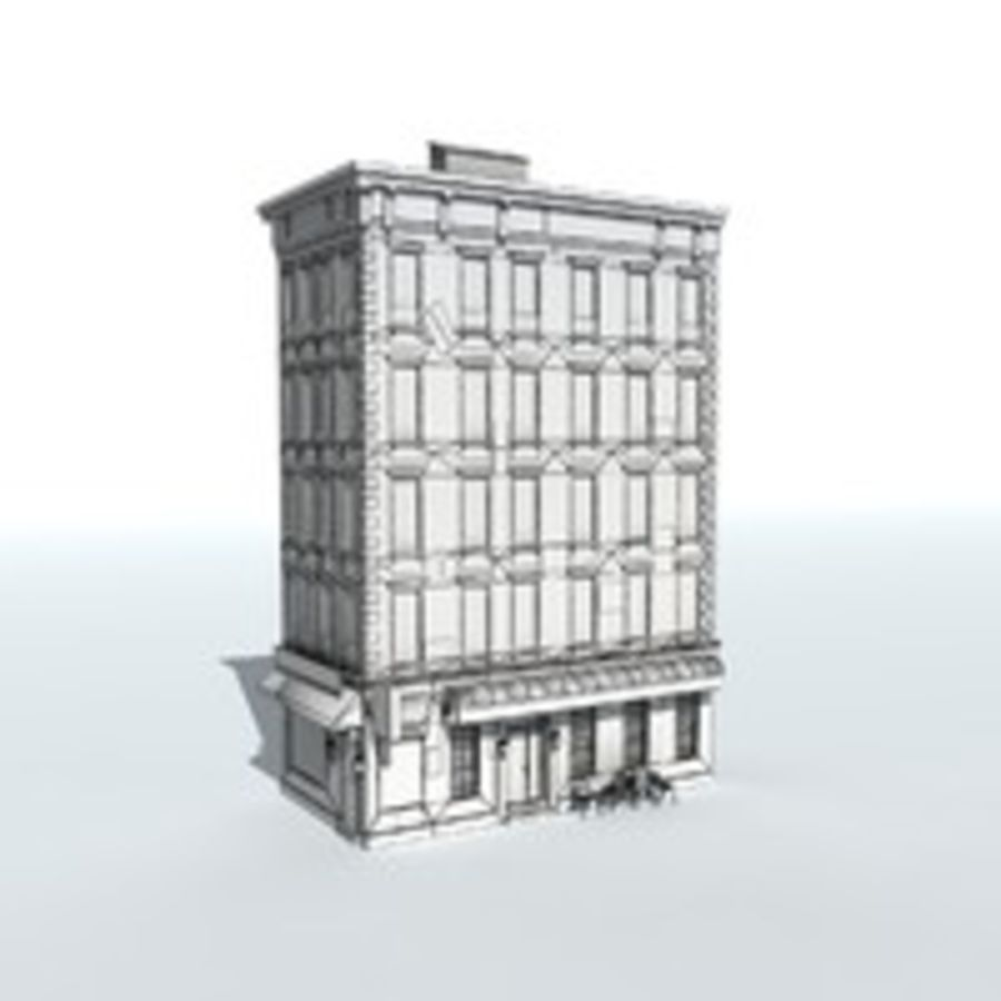 Kamienica Low-poly royalty-free 3d model - Preview no. 5