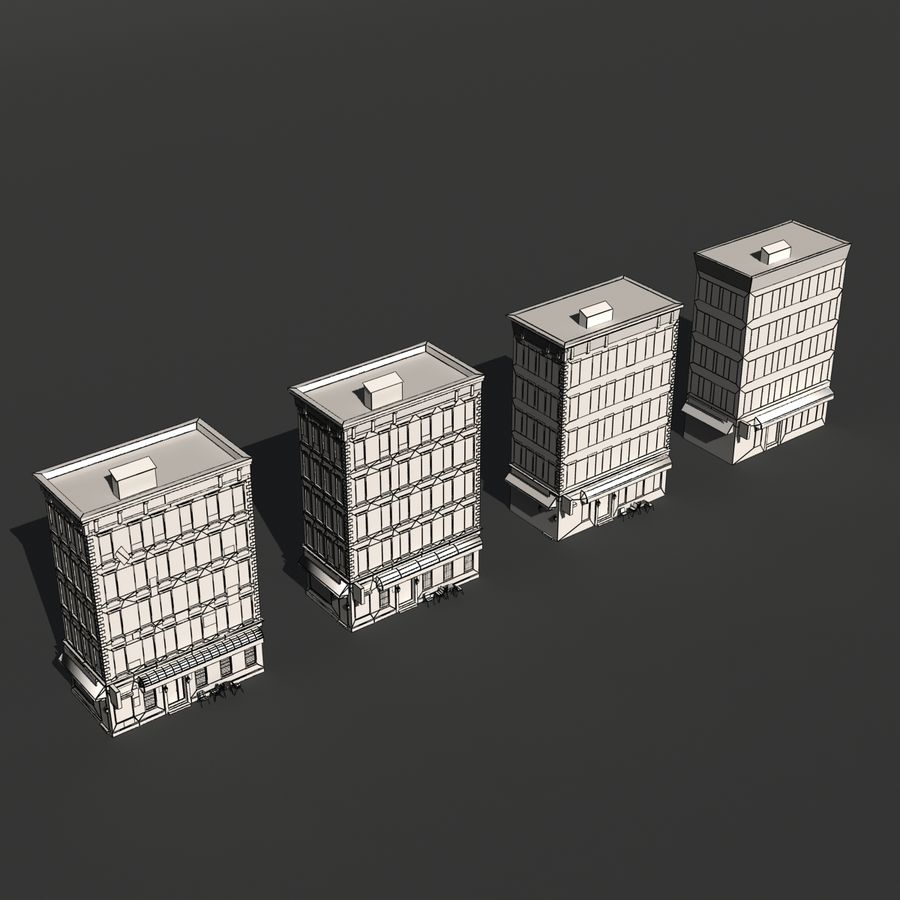 Kamienica Low-poly royalty-free 3d model - Preview no. 14