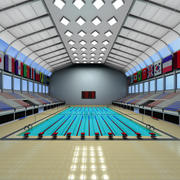 piscina olímpica 3d model