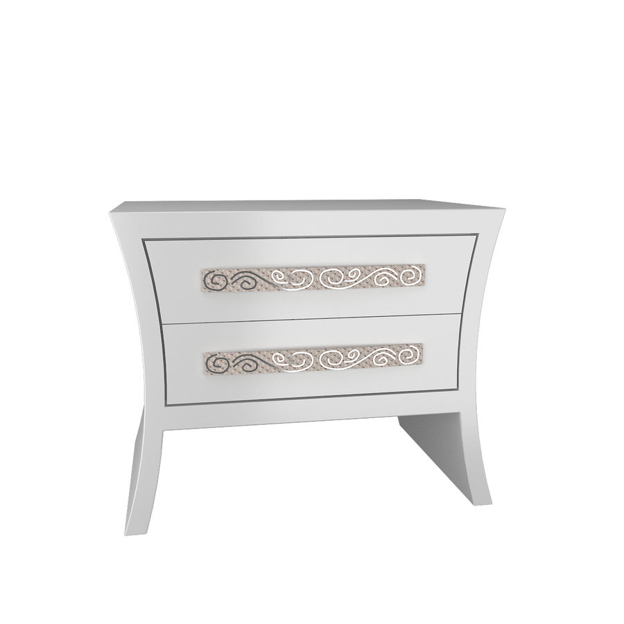 table de chevet, table de chevet royalty-free 3d model - Preview no. 2