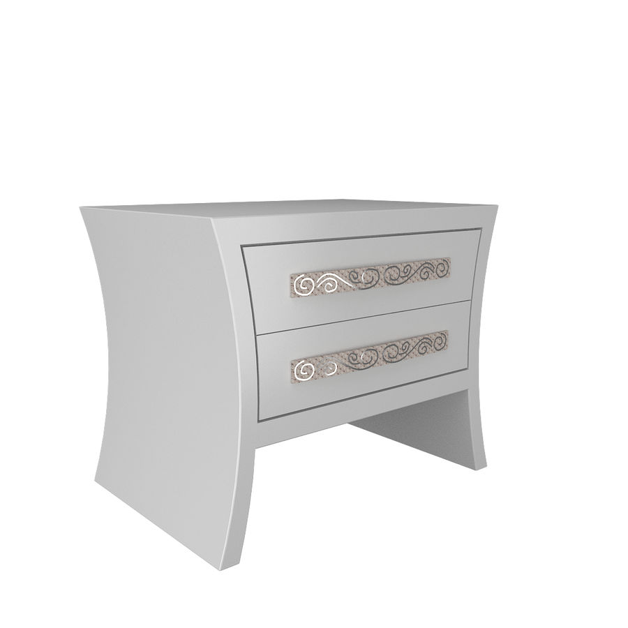 table de chevet, table de chevet royalty-free 3d model - Preview no. 3