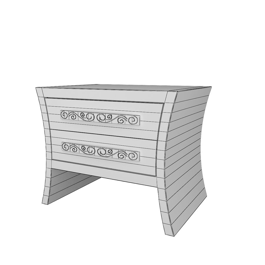 table de chevet, table de chevet royalty-free 3d model - Preview no. 6