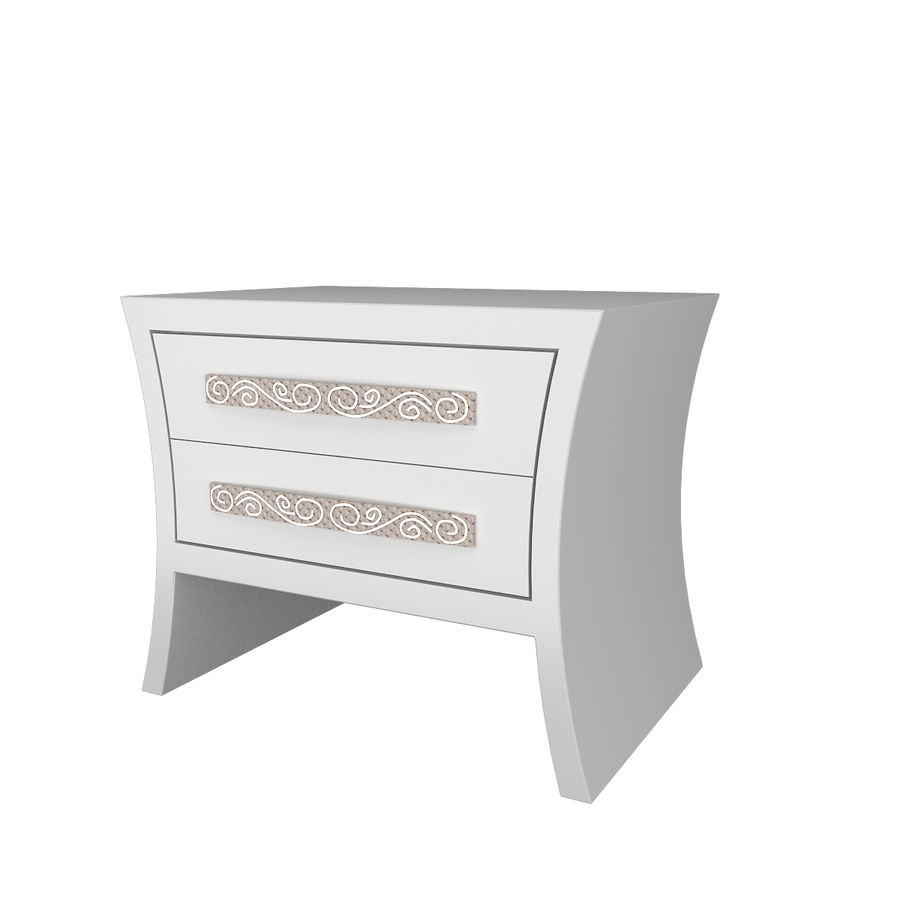 table de chevet, table de chevet royalty-free 3d model - Preview no. 1