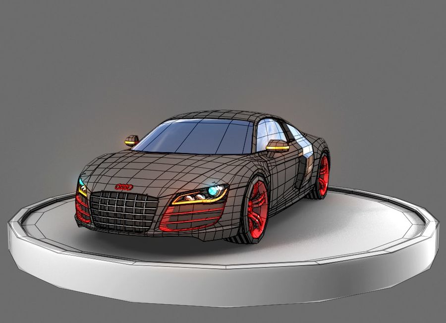 Audi r8 royalty-free 3d model - Preview no. 2