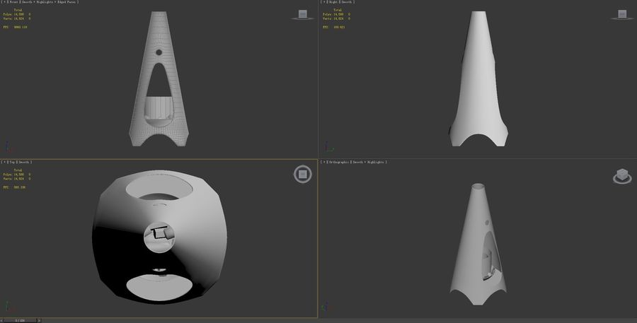 Chimenea moderna royalty-free modelo 3d - Preview no. 9