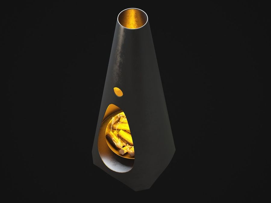 Chimenea moderna royalty-free modelo 3d - Preview no. 7