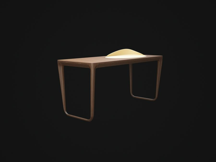 Pazar-Sabah-Yazma-Desk royalty-free 3d model - Preview no. 2