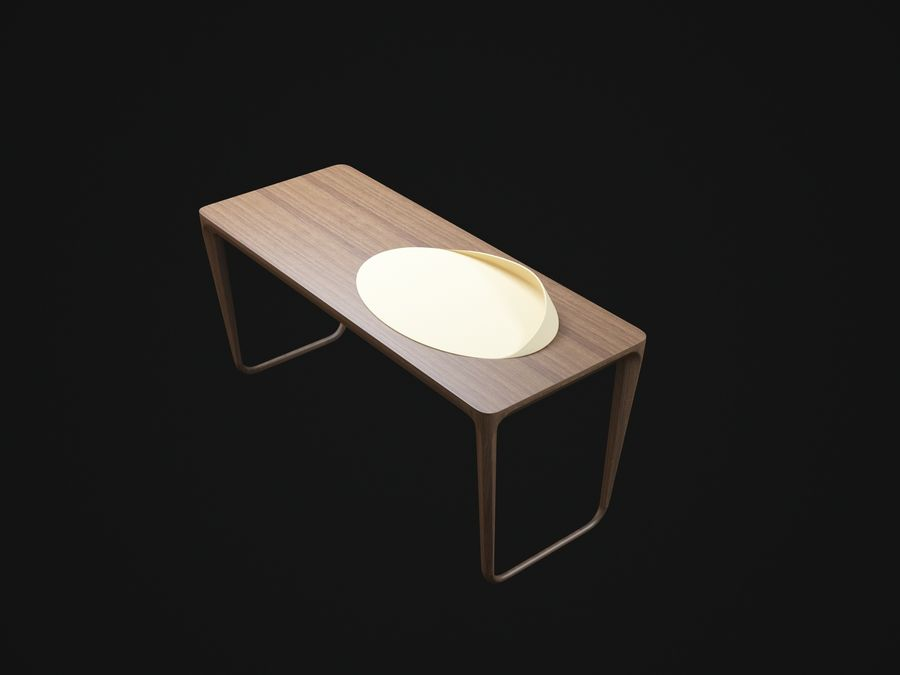 Pazar-Sabah-Yazma-Desk royalty-free 3d model - Preview no. 5
