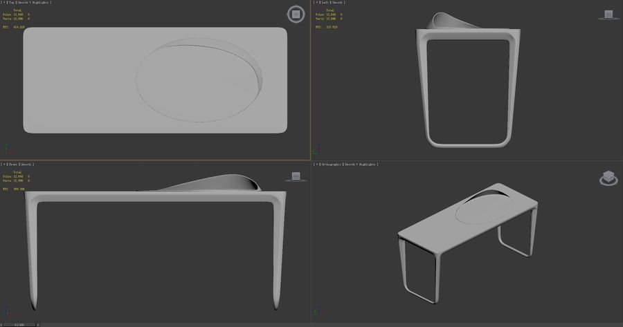 Pazar-Sabah-Yazma-Desk royalty-free 3d model - Preview no. 9