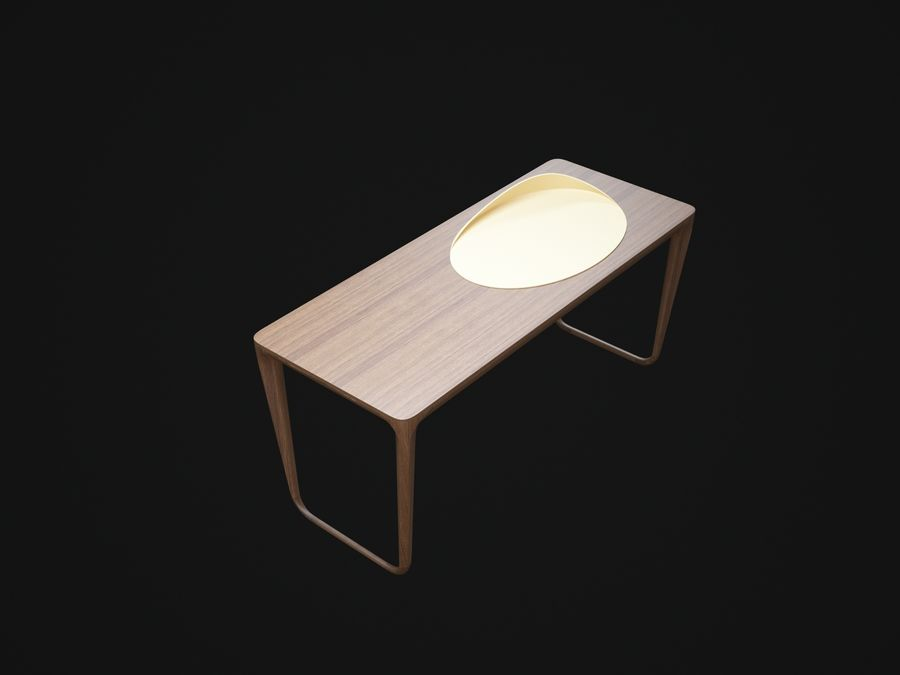 Pazar-Sabah-Yazma-Desk royalty-free 3d model - Preview no. 3