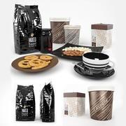 Galletas + Café y Nueces modelo 3d