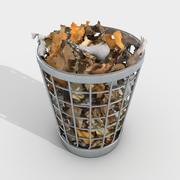 Office Bin Full With Paper 3d model