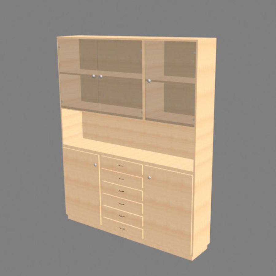 china cabinet royalty-free 3d model - Preview no. 4