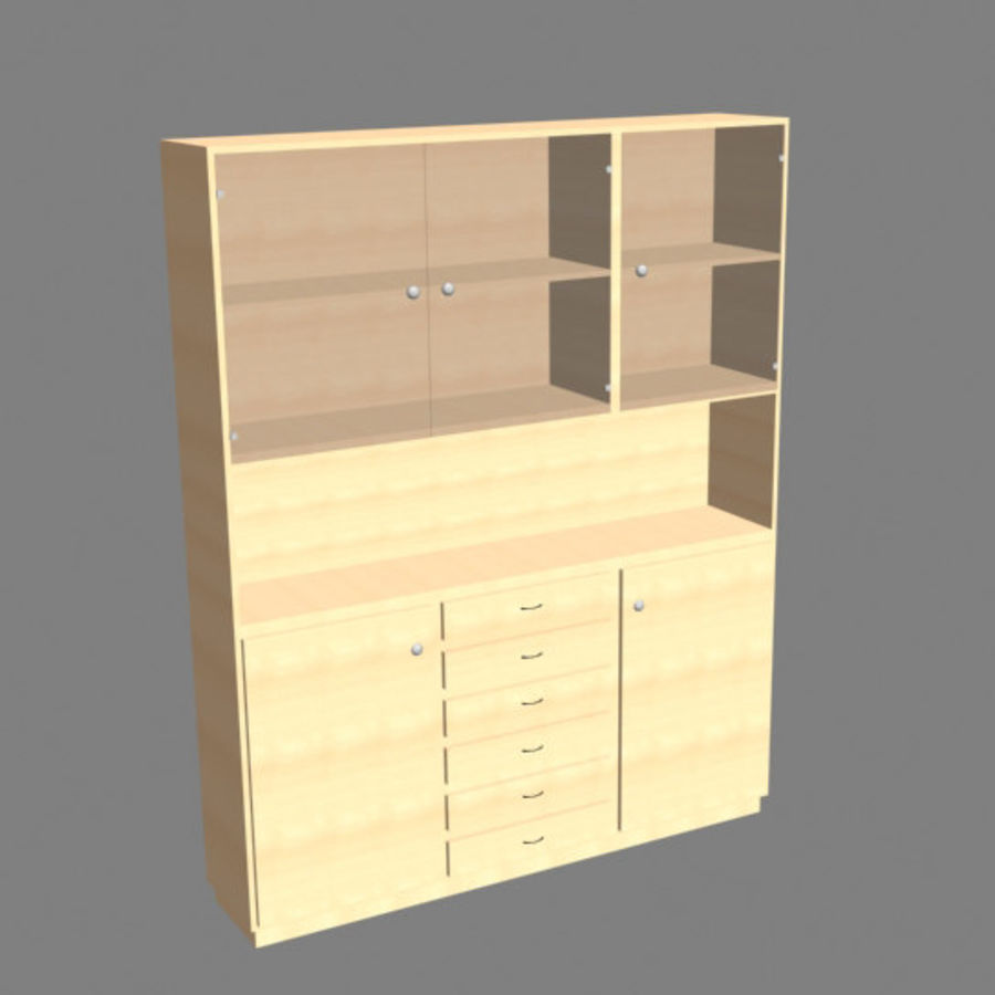 china cabinet royalty-free 3d model - Preview no. 3
