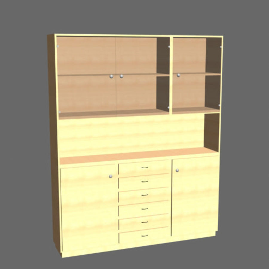 china cabinet royalty-free 3d model - Preview no. 1