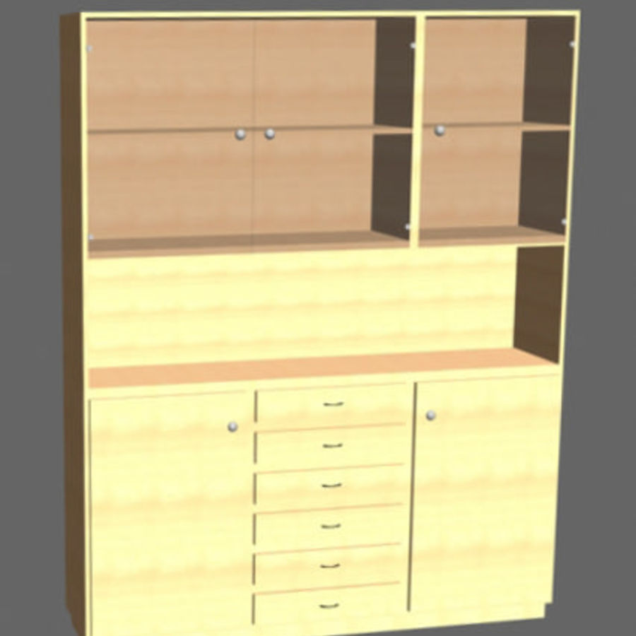 china cabinet royalty-free 3d model - Preview no. 5