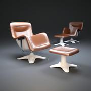 卡鲁塞利扶手椅 3d model