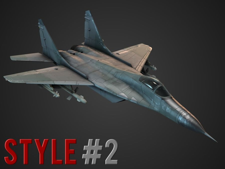 Combat Jet royalty-free 3d model - Preview no. 3