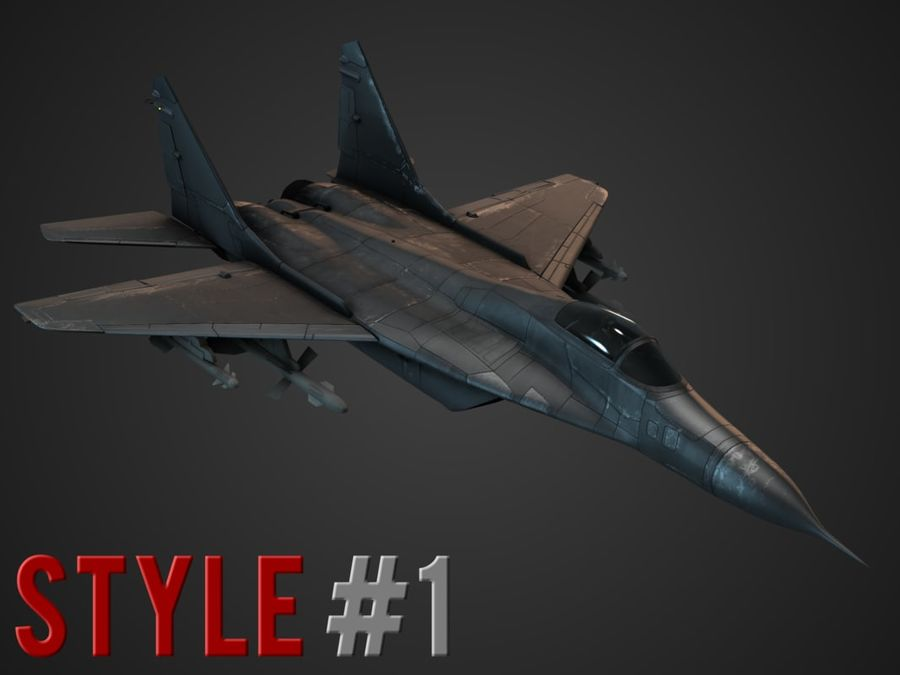 Combat Jet royalty-free 3d model - Preview no. 2