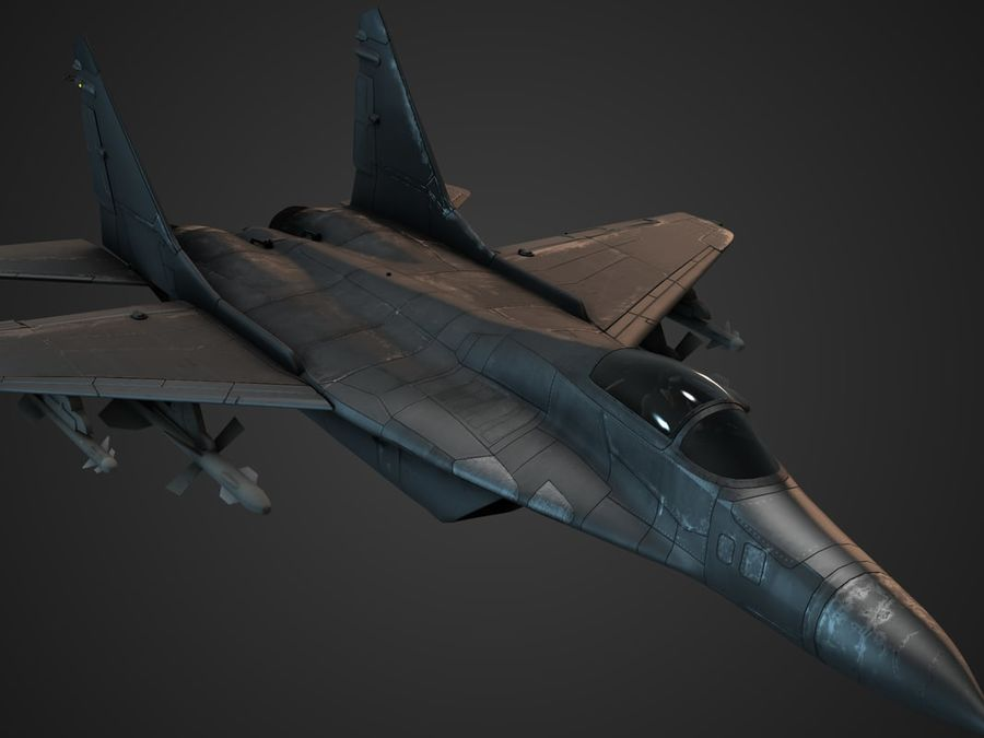 Combat Jet royalty-free 3d model - Preview no. 10