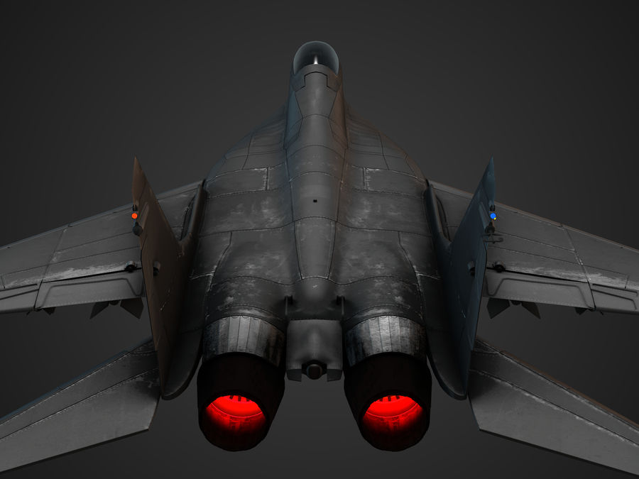 Combat Jet royalty-free 3d model - Preview no. 16