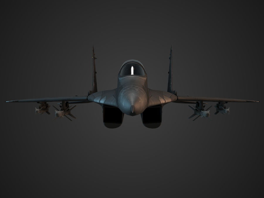Combat Jet royalty-free 3d model - Preview no. 5