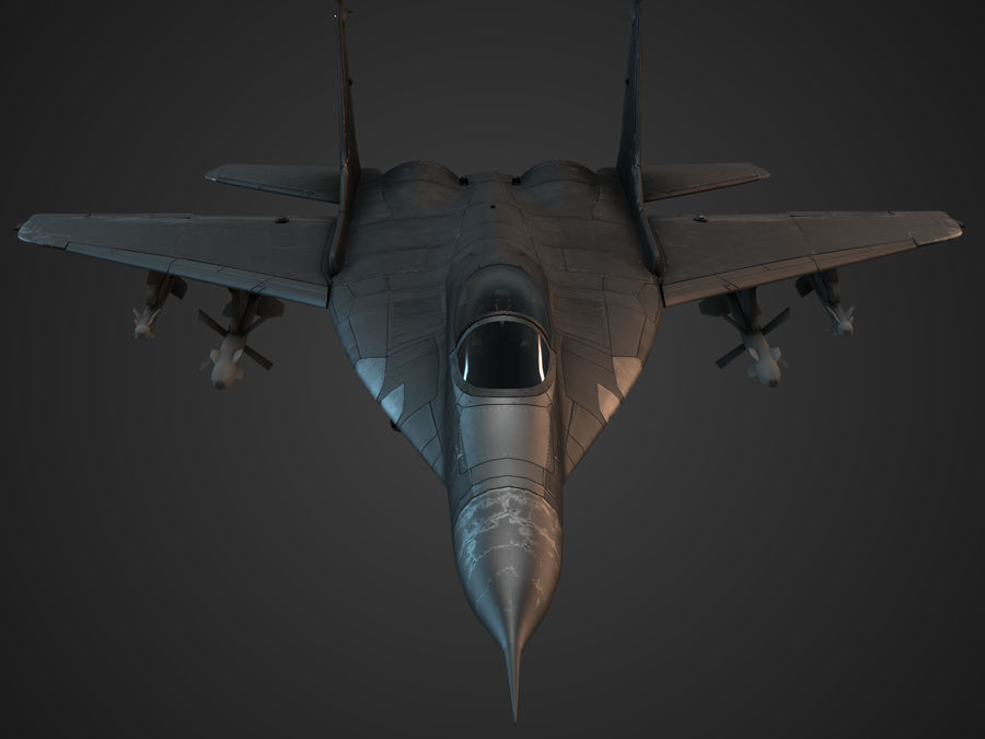 Combat Jet royalty-free 3d model - Preview no. 4