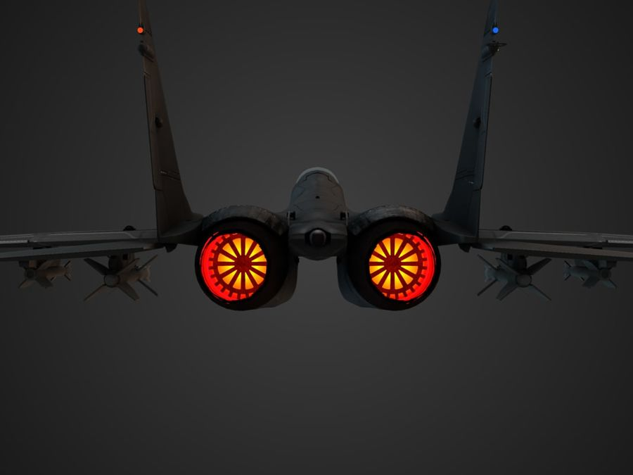 Combat Jet royalty-free 3d model - Preview no. 15