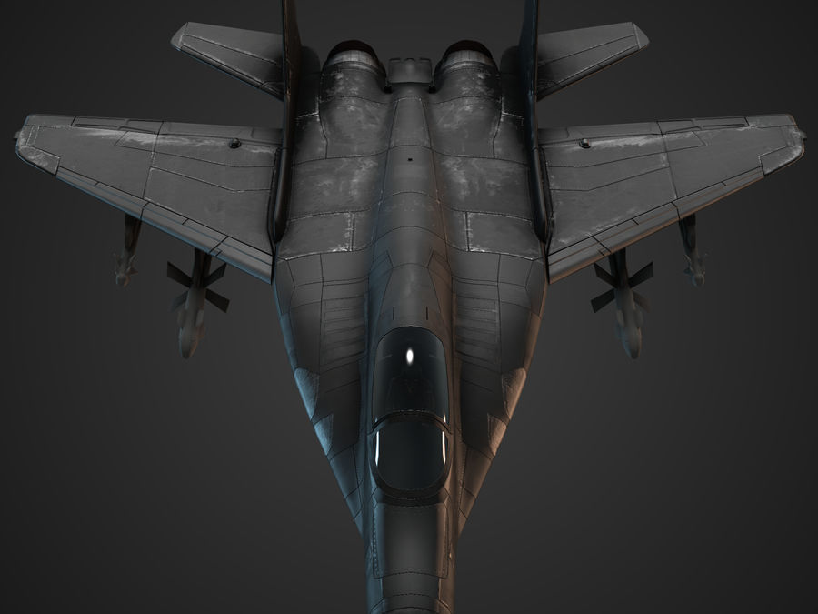 Combat Jet royalty-free 3d model - Preview no. 9