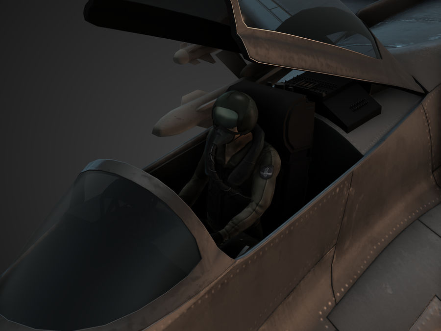 Combat Jet royalty-free 3d model - Preview no. 6