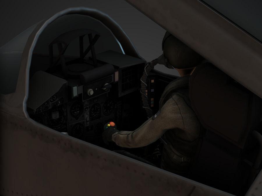 Combat Jet royalty-free 3d model - Preview no. 3
