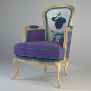 Villa Arm Chair Abuelo Mopas Morado modelo 3d