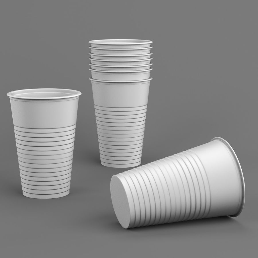 Plastic Cup royalty-free 3d model - Preview no. 3