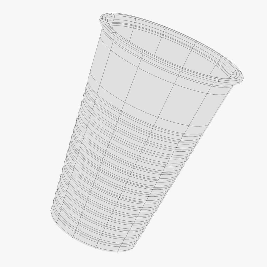 Plastic Cup royalty-free 3d model - Preview no. 5