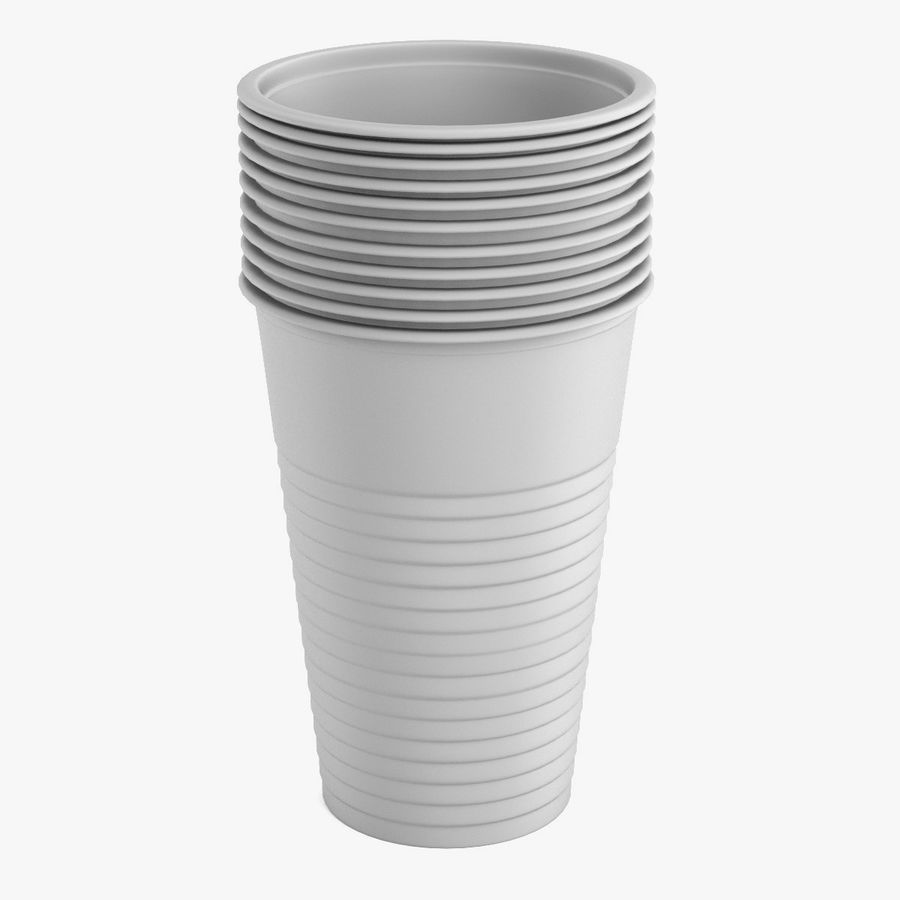 Plastic Cup royalty-free 3d model - Preview no. 2