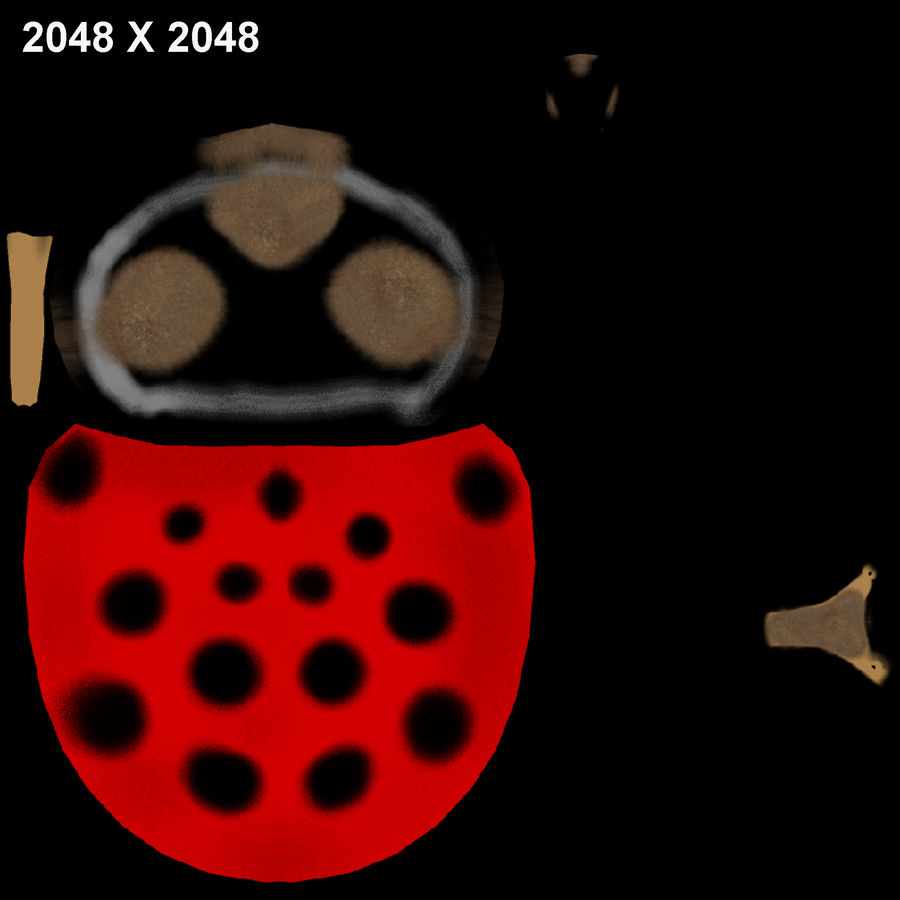 Lady bug royalty-free 3d model - Preview no. 6