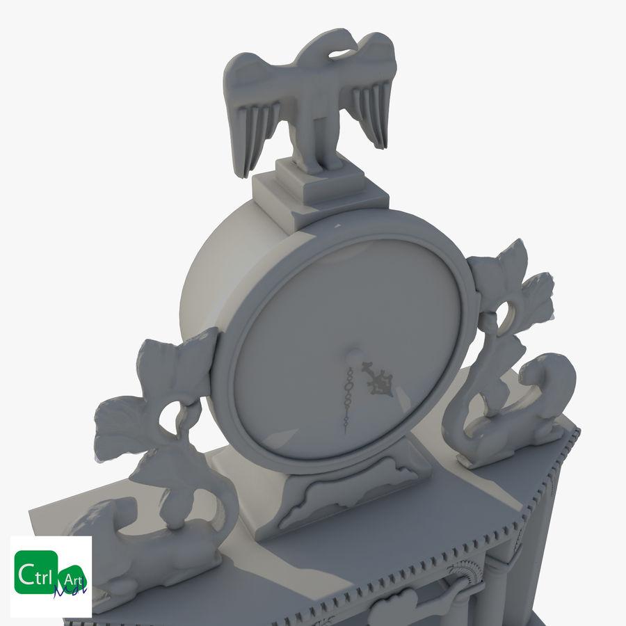 Antique Clock royalty-free 3d model - Preview no. 2