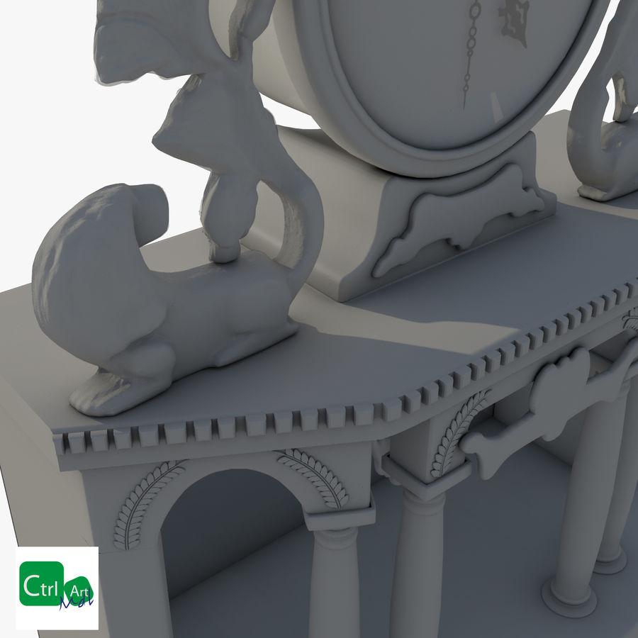 Antique Clock royalty-free 3d model - Preview no. 7