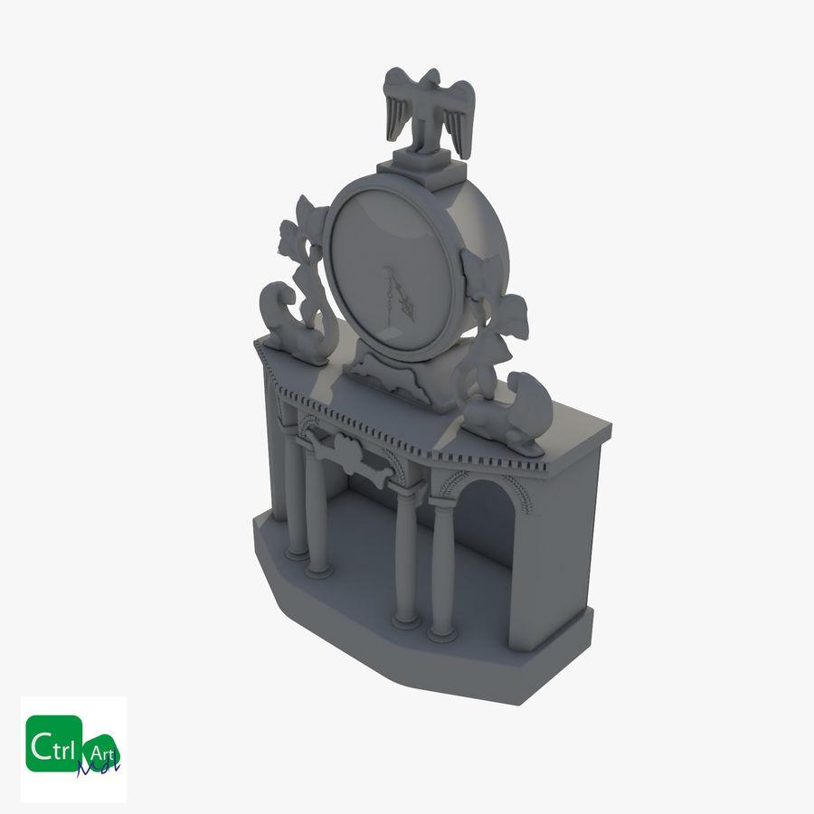 Antique Clock royalty-free 3d model - Preview no. 5