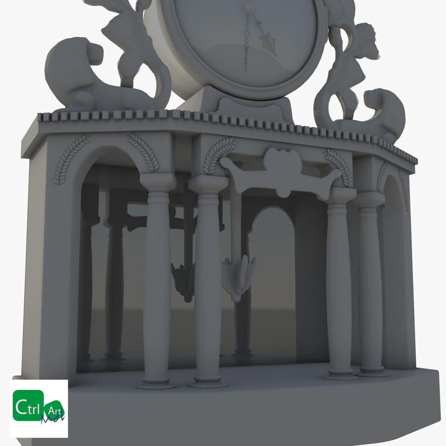 Antique Clock royalty-free 3d model - Preview no. 4