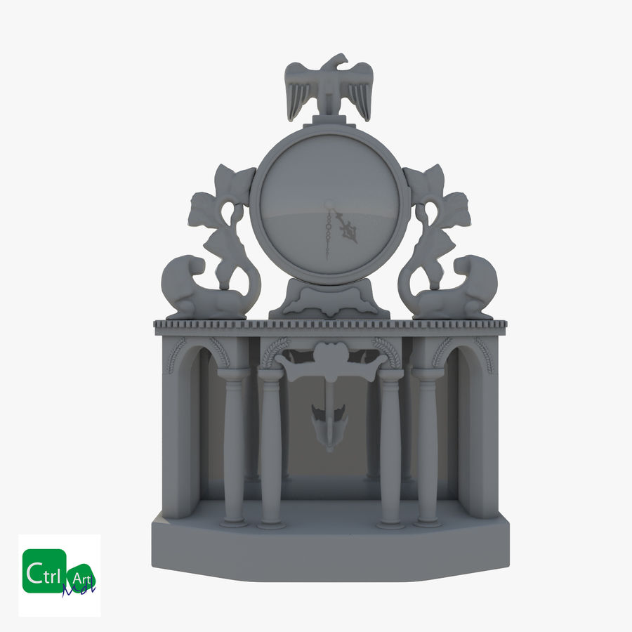 Antique Clock royalty-free 3d model - Preview no. 1