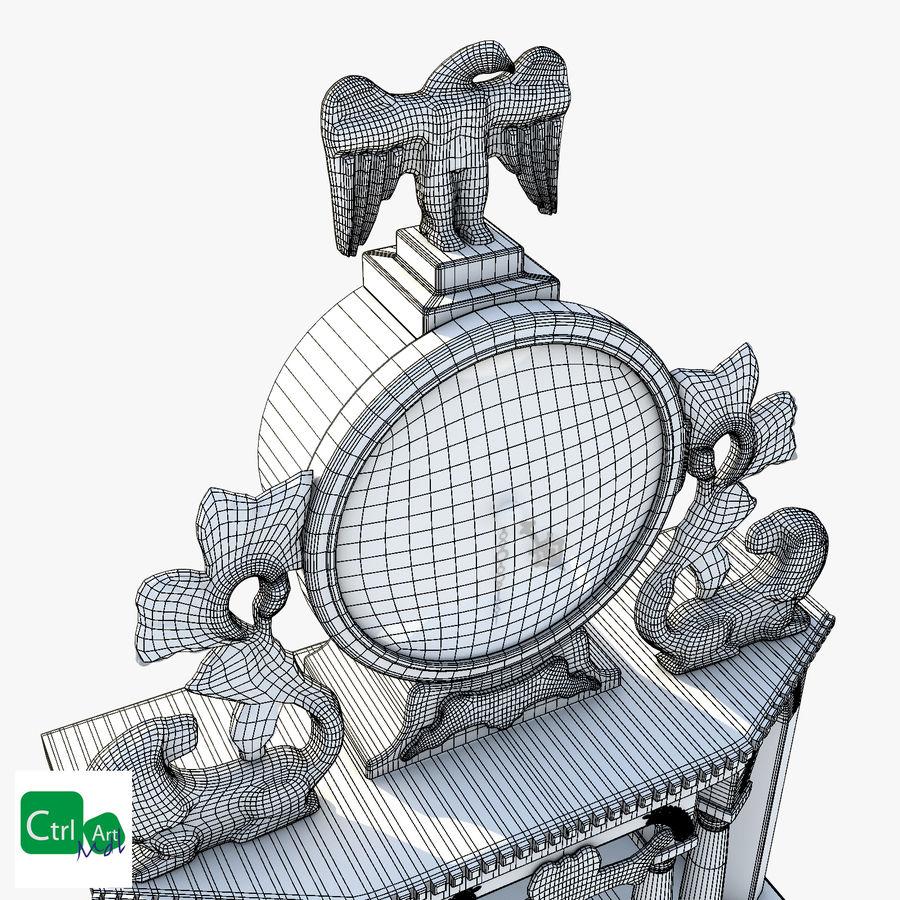 Antique Clock royalty-free 3d model - Preview no. 3