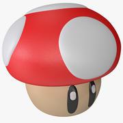 Super Mario svamp figur 3d model