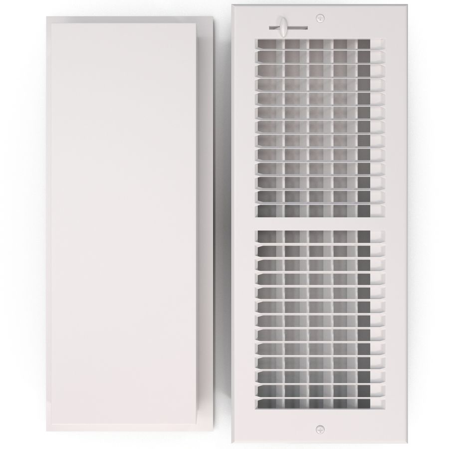 Home Air Vent royalty-free 3d model - Preview no. 7