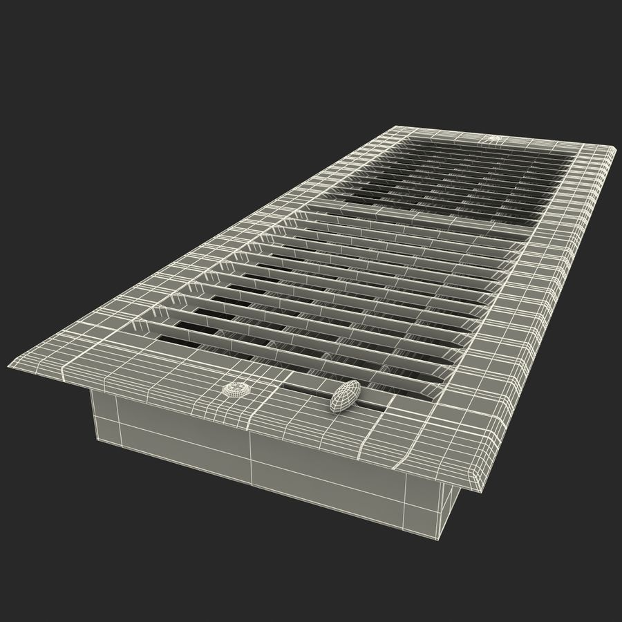 Home Air Vent royalty-free 3d model - Preview no. 16