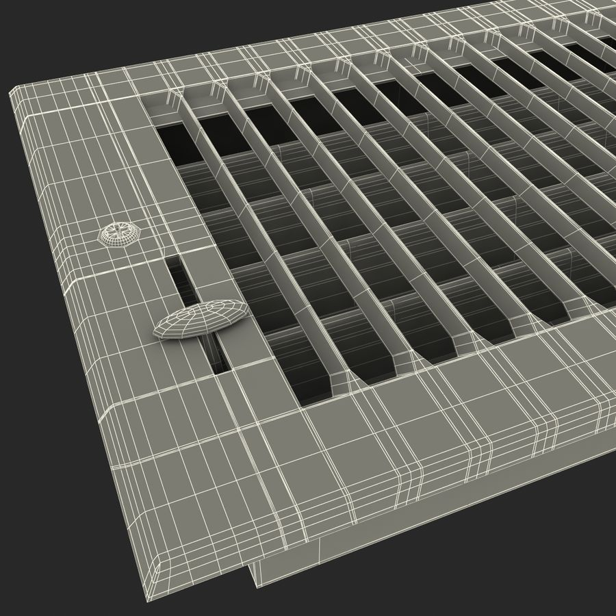 Home Air Vent royalty-free 3d model - Preview no. 17