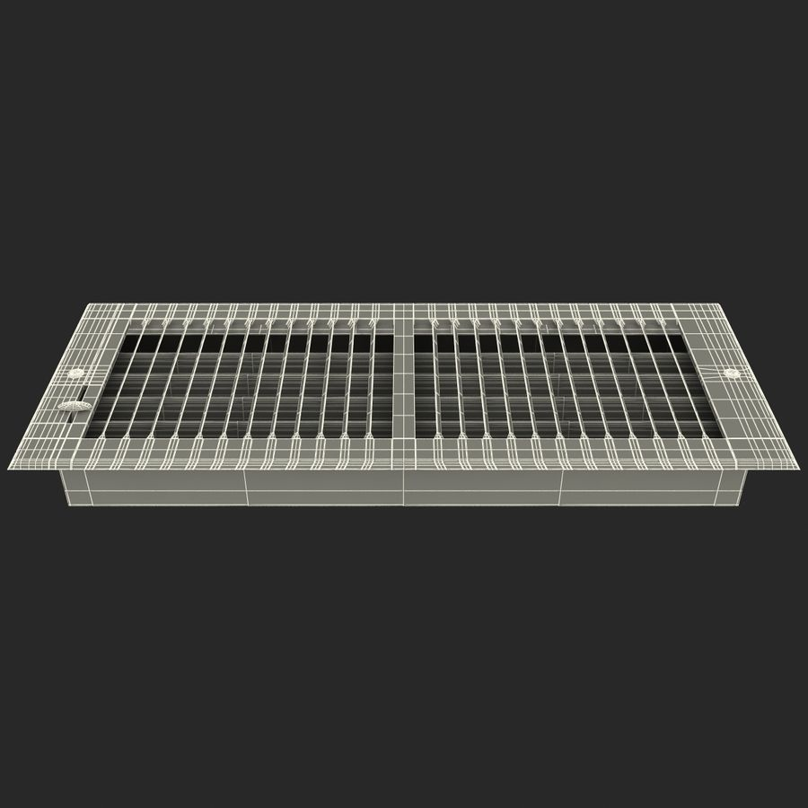 Home Air Vent royalty-free 3d model - Preview no. 14