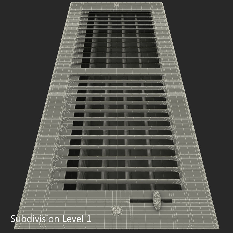 Home Air Vent royalty-free 3d model - Preview no. 21