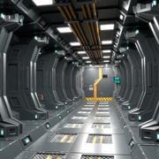 Sci Fi Corridor 01 PBR 3d model