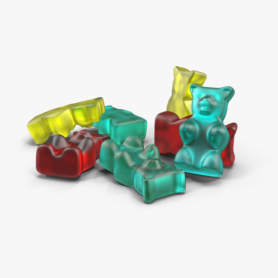 Gummy bears royalty-free 3d model - Preview no. 2